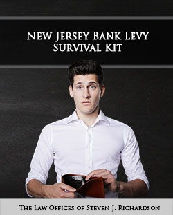 Has Your NJ Bank Account Been Levied? Do You Need Money Unfrozen to Pay Your Bills? Then You Need This Survival Kit!